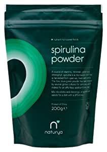 Naturya OrganicSpirulina Powder 200 g Nutritional Power Food Pouch