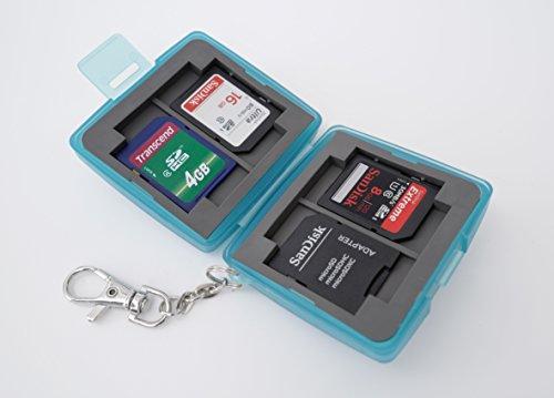 Zusätzliche Speicherkarte (Ares Foto® MC-6B Speicherkarten Schutzbox • Memory Card Case • Card Safe • Tasche • Etui • Aufbewahrung für 4 x SD Karten und zusätzlich 2 Compact Flash Karten (CF Cards))
