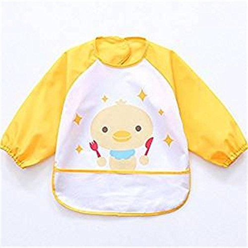 oral-q-unisex-ninos-childs-artes-manualidades-pintura-delantal-bebe-babero-impermeable-con-mangas-y-