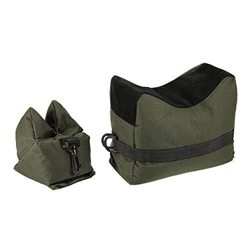 vientiane Vorderschaftauflage,Vorne & Hinten Gewehrauflage,Waffenauflage,Schießauflage Set für Gewehr/Luftgewehr Outdoor Üben (Grün)