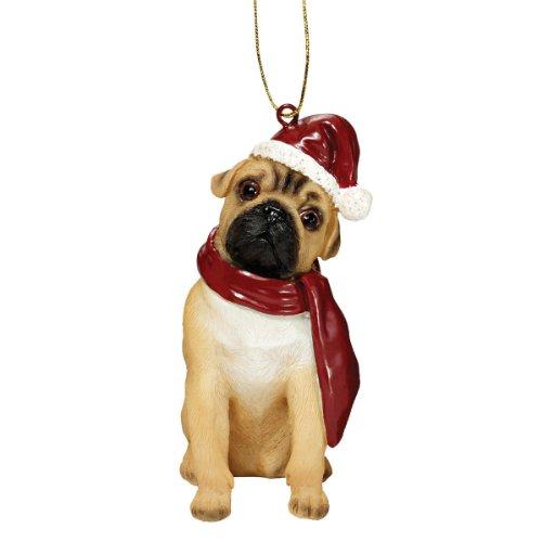 Design Toscano Christmas Ornaments, Weihnachten Mops Ferienhundeornamente -