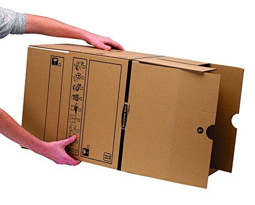 Bankers Box Umzugsbox SmoothMove klein (aus 100% recyceltem Karton, 10er Packung) braun - 4