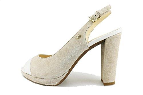 SAMSONITE sandali donna beige camoscio bianco pelle AG613 (37 EU)