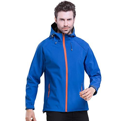 Zilee giacca uomo soft shell con cappuccio - tuta da sci impermeabile cappotto da neve antivento all'aperto giacca a vento abbigliamento sportivo per escursionismo alpinismo