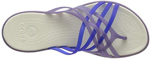 Crocs Huarache, Tongs femme Bleu (Nautical Navy/Cerulean Blue)
