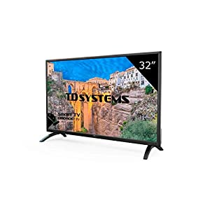 Téléviseur 32 Pouces LED HD Smart TD Systems K32DLM8HS. TV HD 1366 x 768, 3X HDMI, VGA, 2X USB, Smart TV.