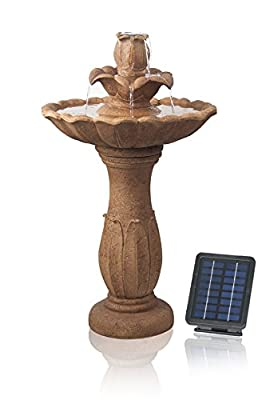 Ruthwell Solar Bird Bath Water Feature by Solaray H70cm by Primrose