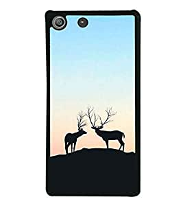 Deers on a Hill 2D Hard Polycarbonate Designer Back Case Cover for Sony Xperia M5 Dual :: Sony Xperia M5 E5633 E5643 E5663