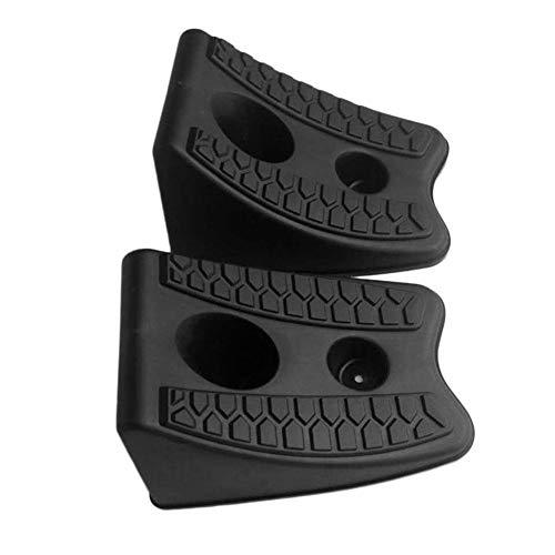 arthomer 2 Teile Auto Auto Anti-Rutsch-Block Gummi Auto Reifen Schlupfstopper Kontrolle Achsvermessung Block Reifen Unterstützung Pad -