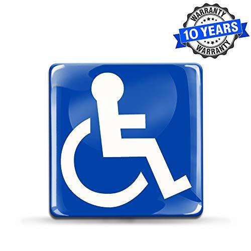 Aufkleber 3D Gel Silikon Sticker Behindert Symbol Rollstuhlfahrer Rollstuhl Auto Moto Motorrad Fahrrad Skate Fenster Tür Tuning KS 56