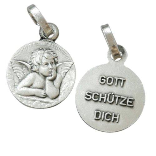 MaMeMi oxydierte Medaille EngelRückseite 'Gott schütze Dich'1,2 (Ein Geschenk Von Gott Kostüm)
