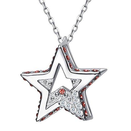 Haixin S925 argent sterling collier de Star avec cristal de Swarovski element bijoux
