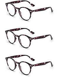 252539bd721c JM Round Reading Glasses Set of 3 Quality Spring Hinge Readers Men Women  Glasses for Reading