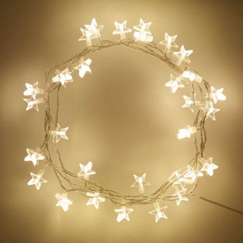 2 x 30er LED Lichterkette warmweiße Sterne Innen