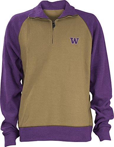 Three Square by Royce Apparel NCAA Herren Pullover Dexter Rib, Herren, Goldfarben/Violett, Large