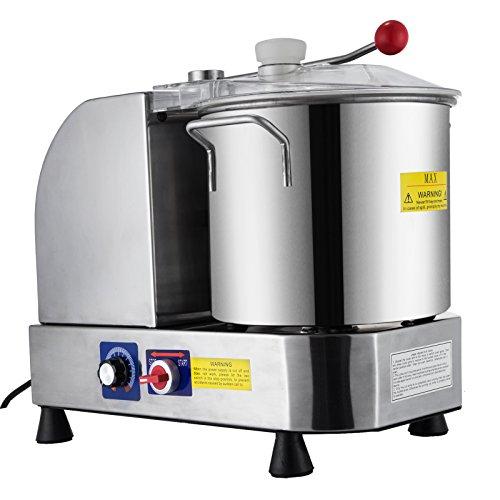 Husuper 12LProfessionelle Edelstahl Elektrische Schleifmaschine Lebensmittelschleifmaschine Teigmischer Einstellbare Geschwindigkeit Schneiden von Lebensmitteln Mühle Mixer für Küche