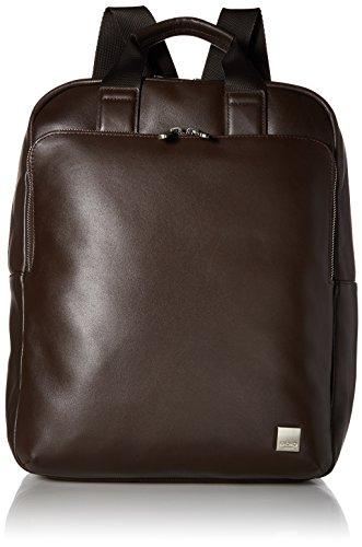 Knomo 154-402-BRN Brompton Dale Rucksack aus Leder mit einem stoßfesten 15 Zoll Notebook-Fach und abnehmbaren - verstellbaren Schulterriemen | Braun -