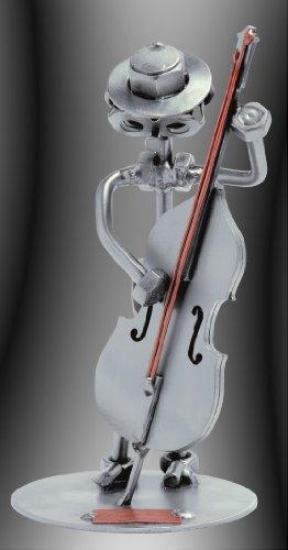 Boystoys HK Design -Schraubenmännchen Kontrabass - Metall Art Geschenkideen Deko Skulptur Musiker & Musikinstrumente -hochwertige Original Figuren handgefertigt