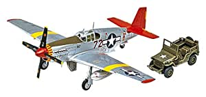 P-51C Mustang Red Tails w/jeep