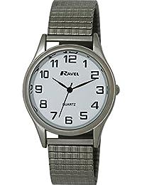 Ravel - R0301.08.1S - Montre Homme - Quartz Analogique - Bracelet Acier Inoxydable Argent
