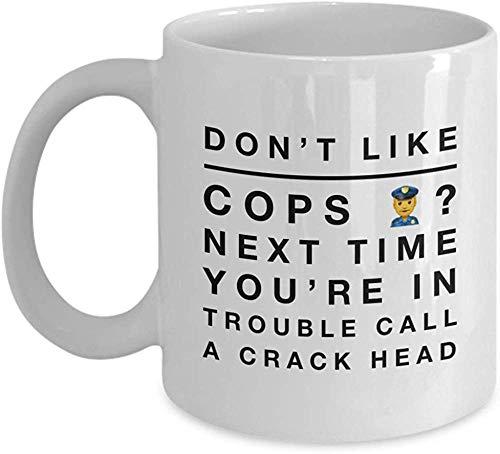 Funny Police Officer Coffee Mug Detective Police Academy Graduation Gifts 11 Oz Ceramic Novelty Tea Cup