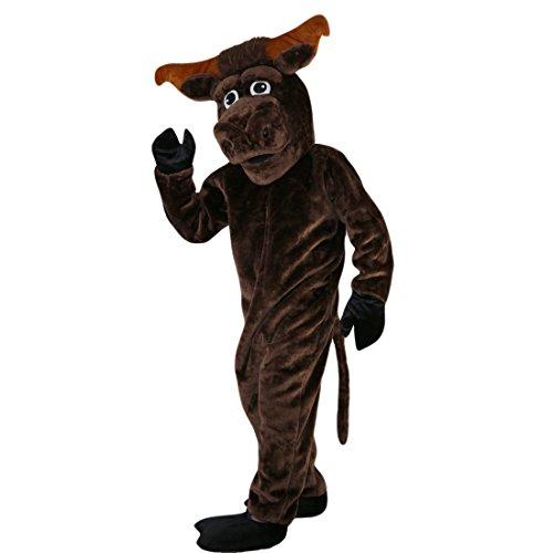 Langteng braun stark Muscle Kuh Bull Cartoon Maskottchen Kostüm Echt Bild 15-20Tage Marke