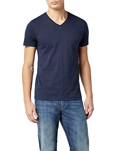ESPRIT Herren T-Shirt 997EE2K821, Blau (Navy 400), X-Large