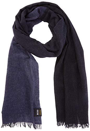 BOSS Casual Herren Nihil Schal, per pack Blau (Dark Blue 404), One Size (Herstellergröße: STCK)