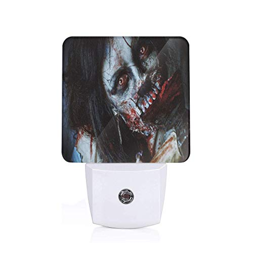 h A Bloody Axe Evil Fantasy Gothic Mystery Halloween Picture Plug-in LED Night Light Lamp with Dusk to Dawn Sensor, Night Home Decor Bed Lamp ()