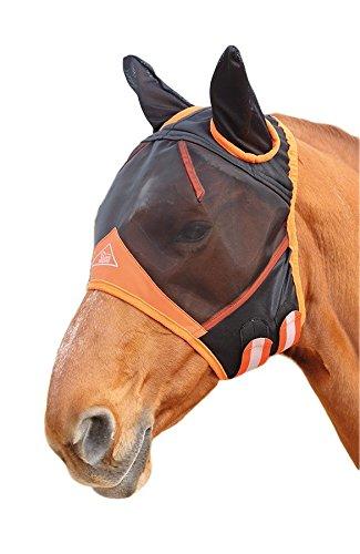 Shires Fliegenmaske mit Ohren für Pferde, feiner Netzstoff, schwarz