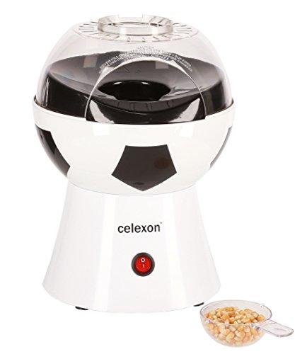 celexon SoccerPop SP10 Popcornmaschine im Fußball-Design | Komplett zerlegbar & einfach zu reinigen | Keine Zugabe von Öl - Popcorn Maker für fettarmes Popcorn