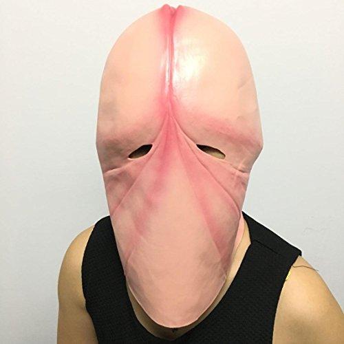 Masken erwachsenen Lieferungen lustige Kopfbedeckung Männer und Frauen Schädel Set Ton lustige Beleidigung Spielzeug Penis Hut Sex Lieferungen , flesh colored (Kostüm Taste Puppe)