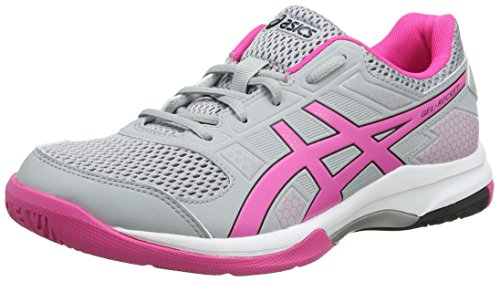 ASICS Damen Gel-Rocket 8 Volleyballschuhe Grau (Mid Grey/Pink Glow 020) 40.5 EU