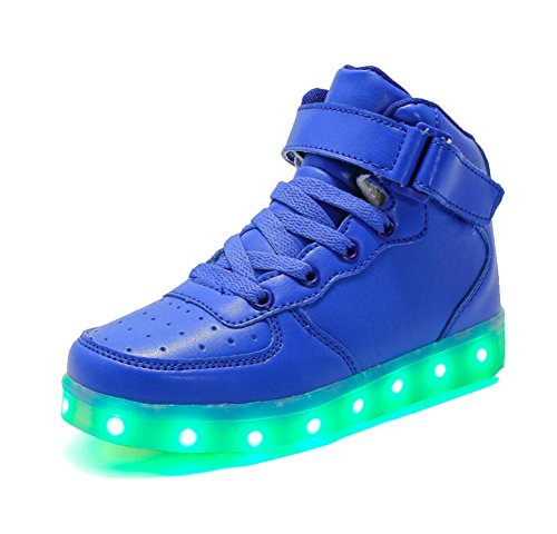 Rojeam-Unisexo-Adulto-Altos-LED-Shoes-Zapatos-Deportivos-USB-Charging-Aire-Libre-Athletics-Casual-Parejas-Zapatos-Sneaker