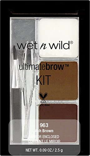wet n wild Ultimate Brow Kit Ash Brown, 1er Pack (1 x 2,5 g)