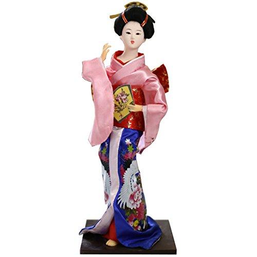 """Chinashow 12\"""" Traditionelle Japanische Schöne Kimono Geisha Puppe Orientalische Puppe Maiko Puppe Beste Geschenke A9"""
