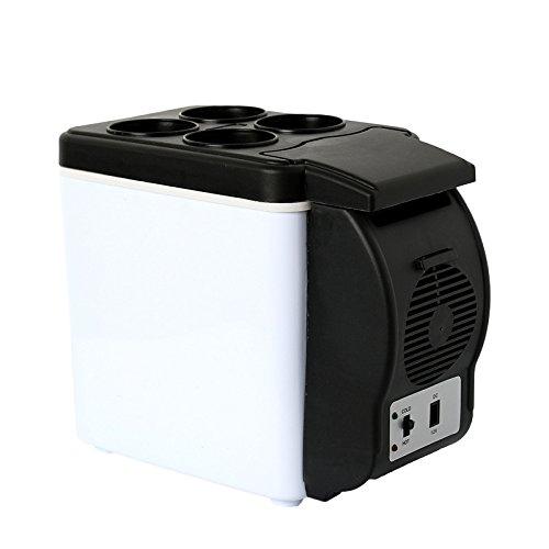 Mini Kühlschrank Kühler und Wärmer Auto Kühlschrank 6L Auto Kühlschrank Kältemittel Mini Mini Kühlschrank Portable Gefrierschrank Gehäuse 12V (Heizung Outdoor-gehäuse)