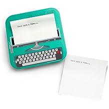 Mustard Wrote A Note 2000 - Taco de notas adhesivas,diseño de máquina de escribir