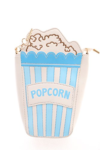 Kawaii-Story LB-57-3 Hell-Blau Popcorn Tüte Funny Pastel Goth Lolita Bag Harajuku Umhänge-Tasche