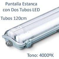 Pantalla Estanca con 2 Tubos LED 120cm (4000k)
