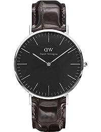 Daniel Wellington Classic Herren-Armbanduhr Analog Quarz Leder - DW00100134