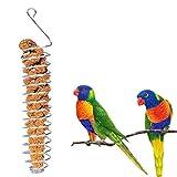 Legendog Mangiatoia per Pappagalli in Acciaio Inossidabile con Cestello Appeso A Gabbia per Uccelli