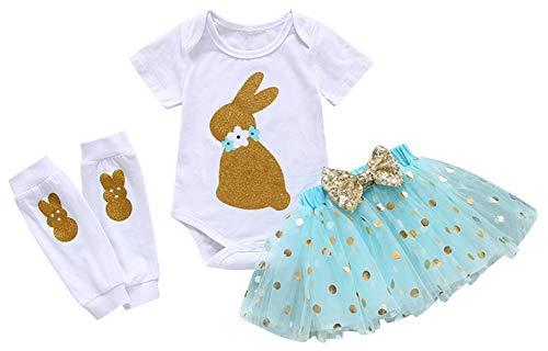 Binse Baby Mädchen Strampler Rock mit Fußabdeckung Baumwoll Babybody Blau 2-3 Jahre ()