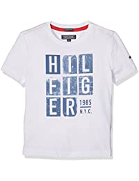 Tommy Hilfiger Boy's Ame Hilfiger Print Cn Tee S/S T-Shirt