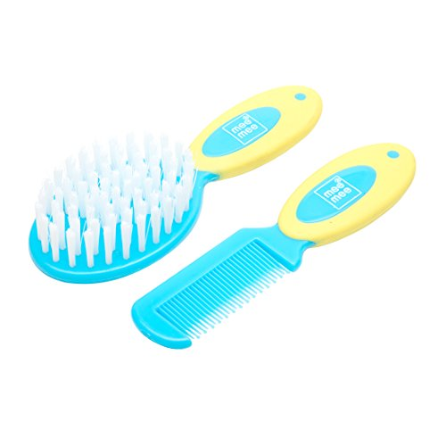 Mee Mee Soft Grip Brush & Comb Set (Blue)  available at amazon for Rs.245