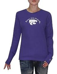 NCAA Kansas State Wildcats Femme Slim Fit Long Sleeve Shirt