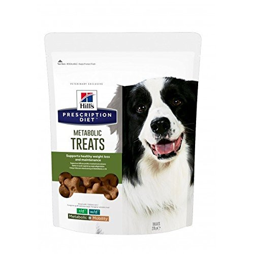 Hills prescription diet canine metabolic treats per il controllo del peso snack per cani gr.220, 6 pezzi