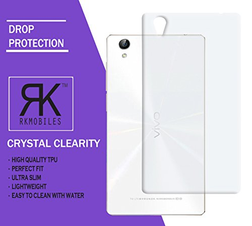 Vivo Y51L Ultra Thin 0.3mm Clear Transparent Flexible Soft TPU Slim Back Case Cover (For Vivo Y51L)