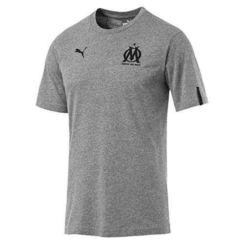 bb6fcc2e5 Puma Olympique de Marseille Fan Slogan tee Camiseta, Hombre, Medium Gray  Heather, XXL