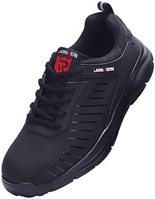 LARNMERN Sicherheitsschuhe Damen Arbeitsschuhe, Flyknit Leicht Anti Punktion Stahlkappe Reflektierend Atmungsaktiv Sneaker LM-112